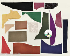 COWHIDE & SUEDE OFFCUTS CRAFT PACK, 450 GM, ASSORTED COLOURS, 1.2-1.5 MM THICK