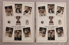 1996-97 CALDER CUP PLAYOFF Program LOT OF 2  Hershey Phantoms Hamilton Bull Dogs