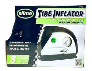SLIME 40050 - 40032 Tire Inflator-12V Car Portable Air Compressor w/ LED light