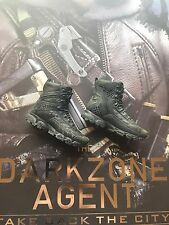 Virtual TOYS la zona scura agente NERO TACTICAL BOOTS & esegue il pegging LOOSE 1 / Scala 6A