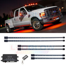 LEDGlow 6pc Orange Wireless LED Truck Underbody Underglow Neon Lighting Kit