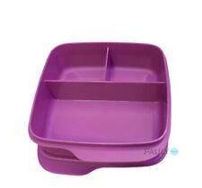 Tupperware Clevere Pause Lunchbox mit Trennung Brotdose Sandwich Dose Box lila