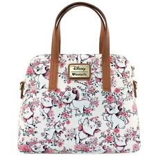 "NEW LOUNGEFLY X Disney ""THE ARISTOCATS MARIE FLORAL"" Dome Handbag -SALE"