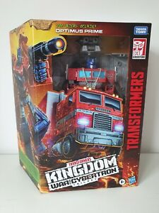 TRANSFORMERS KINGDOM WAR FOR CYBERTRON / OPTIMUS PRIME / LEADER CLASS FIGURE
