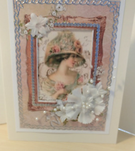Victorian Note Card- Thinking of You Cards Blank inside-- Free shipping in USA