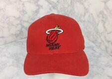 REEBOK RED MIAMI HEAT NBA BASKETBALL ADJUSTABLE BALL HAT CAP