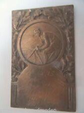 21614 Plakette Vereinsmeisterschaft 100 km 5.Preis 1923 Medaille Fahrrad 8x5 cm