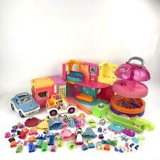 Polly Pocket LOT Playset Disney Princess Accessories Car Cruise Shop 2002 House