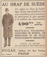 Z8374 Manteaux AU DRAP DE SUEDE - Pubblicità d'epoca - 1933 Old advertising