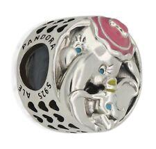 Genuine Pandora ALE S925 Silver Disney Dumbo & Mrs Dumbo Charm 797850ENMX