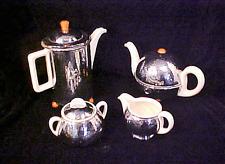 RARE FULL SET!  GERMAN WMF HUTSCHENREUTHER SILVER COFFEE TEA SUGAR CREAMER SET