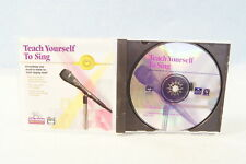 Teach Yourself To Sing Cd-Rom Pc Computer Software Program Win/Mac Alfred Publ.