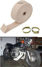 Motorcycle EXHAUST SILENCER HEAT SINK COOLING WRAP 3m CREAM For Royal Enfield