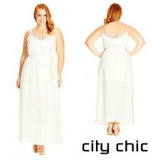 CITY CHIC  * INNOCENCE * EMBROIDERED  MAXI  DRESS   Sz XXL  24W 26W   NWT  $ 100