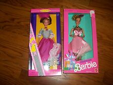 Lot of 2 French Barbie Dolls of the World 1997 & Parisian Barbie Both SIGNED