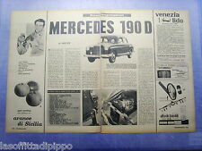 LAUTOM960-RITAGLIO/CLIPPING-ROAD IMPRESSION-1960- MERCEDES 190 D