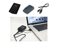 CARICABATTERIE USB PER CANON Digital Ixus 700, DIGITAL IXUS 750, 1 anno di garanzia