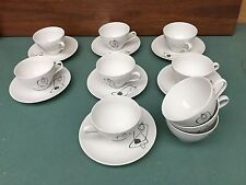 ESCHENBACH BAVARIA GERMANY CHINA Cups Saucers -MID CENTURY MODERN Atomic