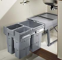 Mülleimer Küche Abfallsammler Abfalltrennung Mülltrennung mit 3 Einheiten