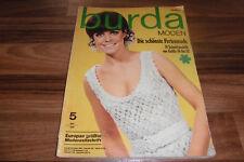 BURDA Mode 5/1968 -- Plus Belle ferienmode/74 Modèles de Taille 36 à 52