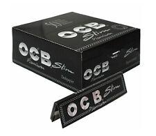 1 5 10 25 50 OCB PREMIUM BLACK KING SIZE SLIM SMOKING CIGARETTE ROLLING PAPERS
