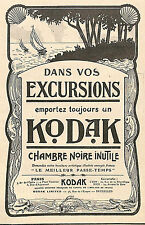 PARIS APPAREILS PHOTO KODAK PUBLICITE 1910