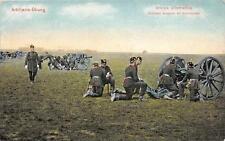 CPA GUERRE 1914 ARMEE ALLEMANDE ARTILLERIE SAXONNE EN MANOEUVRES