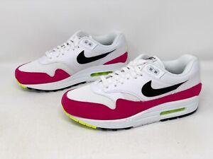 Nike Air Max 1 'Rush Pink' White Sneaker, Size 7 M / 8.5W BNIB AH8145-111