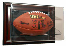 Wall Mounted Cherry Wood Football Display Case