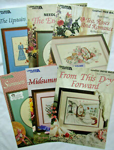 Lot of 6 Paula Vaughan Counted Cross Stitch Patterns