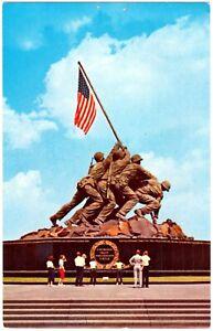 POSTCARD U.S. MARINE CORPS WAR MEMORIAL IWO JIMA STATUE, VIRGINIA, U.S.A.