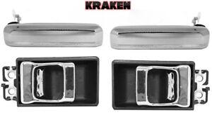 Kraken Outside And Inside Handles For Nissan Hardbody Truck 86-97 Front Chrome