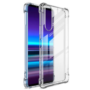 For Sony Xperia 10 1 5 II 8 Shockproof Transparent Silicone Soft TPU Case Cover