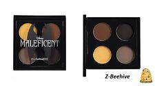 MAC Maleficent 4 Color Eye SHadow Quad Palette Neutral Brown Black Gold NIB