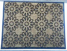 "Garden Flower Outdoor Coir Door Mat 36"" x 48 """