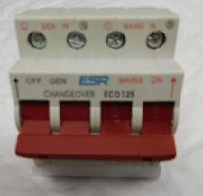 COMMUTATORE generatore di trasferimento 125 Amp 1 MONOFASE guida DIN ECO125