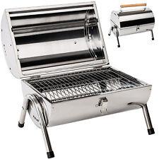 Grill BBQ acciaio inox portatile barbecue carbone carbonella griglia campeggio