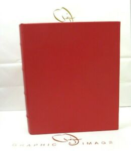 Graphic Image Photo Album Leather Medium 7x9 Ring Binder Clear Pockets RED