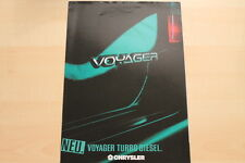 76287) Chrysler Voyager Turbo Diesel Prospekt 05/1992
