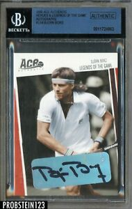 Bjorn Borg Signed 2003 ACE Authentic Heroes & Legends Of The Game BGS BAS