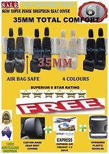Super Dense Sheepskin (Lambswool) Car Seat Covers 35mm Airbag Safe+SeatBelt Pair