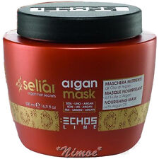 Nourishing Argan Mask Seliar ® 500ml Linseed Oil Silk Proteins Idratante pH 4,5