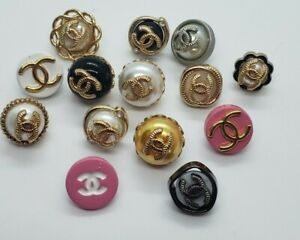 LOT of 10 Chanel buttons, choose your style