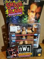 WCW nWo Scott Hall black & white Smash 'N Slam Toy Biz figure Outsiders WWE
