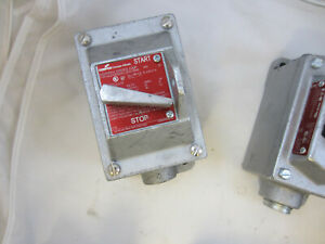 """CROUSE HINDS EFDC2419 EXPLOSION PROOF 3 POLE SWITCH 30 AMP RATED 480V 3/4"""""""