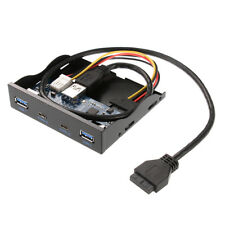3.5'' 2 USB3.1 Type-C + 2 USB 3.0 A Hub to 20Pin Header Front Panel Floppy Drive