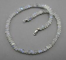 Mondsteinkette Regenbogen Mondstein Rondelle Halskette für Damen 45 cm