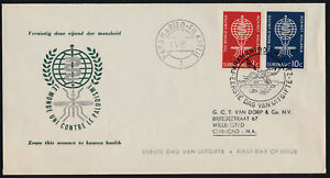 Surinam 304-5 on green Cachet addressed FDC - Anti-malaria, WHO, Mosquito