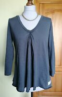 Womens ODD MOLLY 3/4 Sleeve Grey Top, Size 1/UK8-10, Good condition !