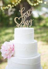 Nuestros diseños brillo impresionante mejor Día Alguna vez Wedding Cake Toppers